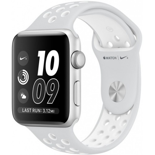 Apple Watch Nike+ 38mm Silver with White Nike Sport Band [MQ172] фото 1
