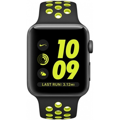 Apple Watch Nike+ 38mm Space Gray with Black/Volt Nike Band [MP082] фото 2