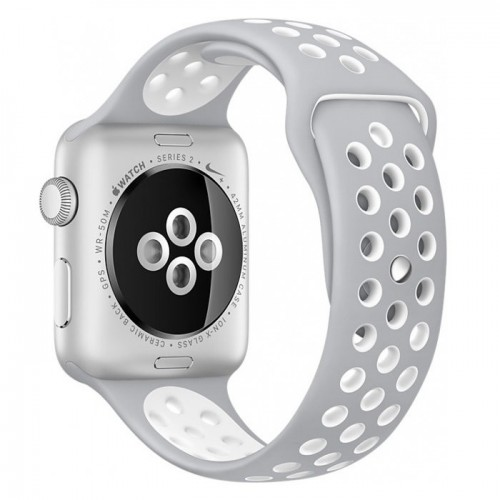 Apple Watch Nike+ 42mm Silver with Flat Silver/White Nike Band [MNNT2] фото 2