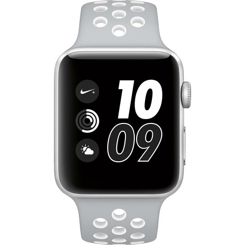 Apple Watch Nike+ 42mm Silver with Flat Silver/White Nike Band [MNNT2] фото 3