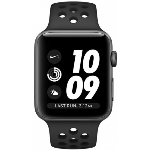 Apple Watch Nike+ 42mm Space Gray with Black Nike Sport Band [MQ182] фото 2