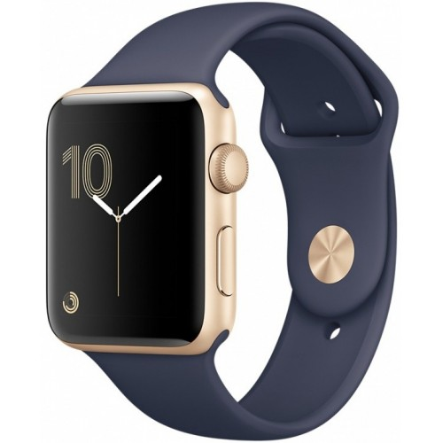 Apple Watch Series 2 38mm Gold with Midnight Blue Sport Band [MQ132] фото 1