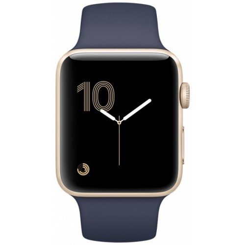 Apple Watch Series 2 38mm Gold with Midnight Blue Sport Band [MQ132] фото 2