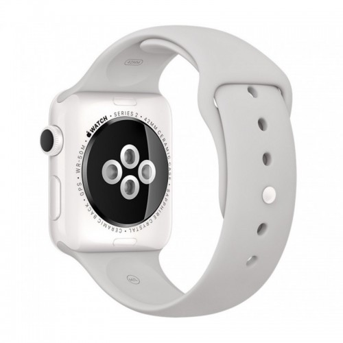 Apple Watch Series 2 38mm White Ceramic with Cloud Sport Band [MNPF2] фото 2