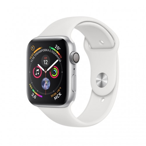 Apple Watch Series 4 LTE 40 мм (сталь серебристый/белый) фото 1