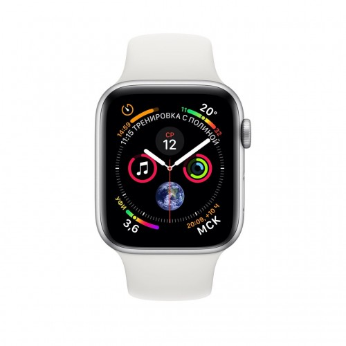 Apple Watch Series 4 LTE 40 мм (сталь серебристый/белый) фото 2